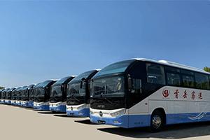 欧辉BJ6122城间客车批量交付廊坊市首岳客运