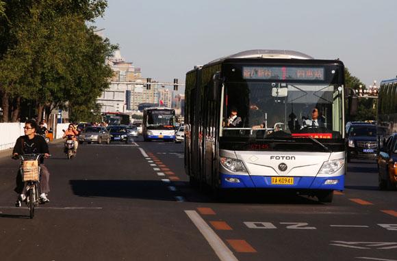 福田汽车助力北京实施绿色公交一体化解决方案